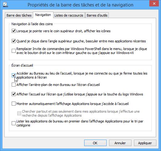 Comment démarrer sur le bureau sous Windows 8.1