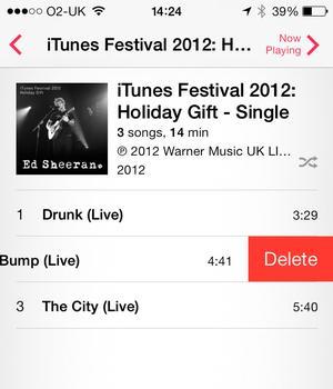 Comment supprimer des chansons sur votre iPhone doté du système iOS 7