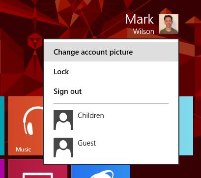 renommer compte Windows 8