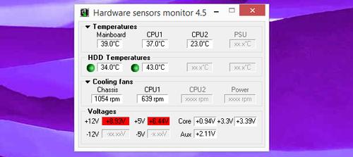 Vérifier la température hardward