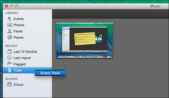 l'espace disque sur un Mac