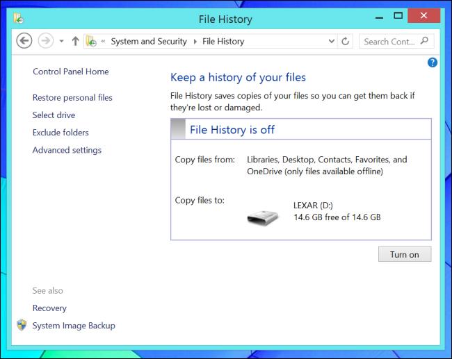 Historique des fichiers