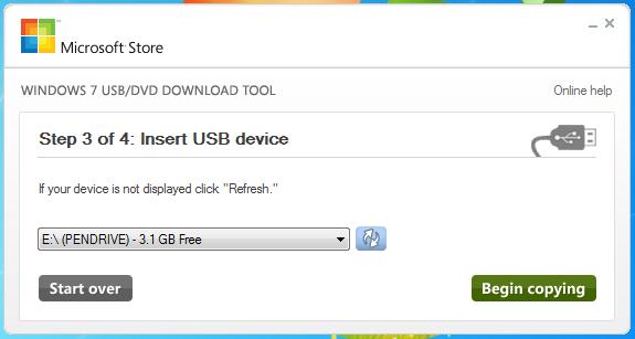 Windows 7 USB / DVD Download Tool