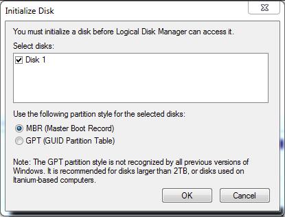 Utiliser le Windows built-in disque Management outil