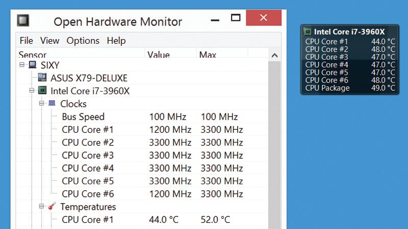Surveiller la température du CPU
