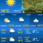 Les meilleures application météo pour l'Iphone et Android