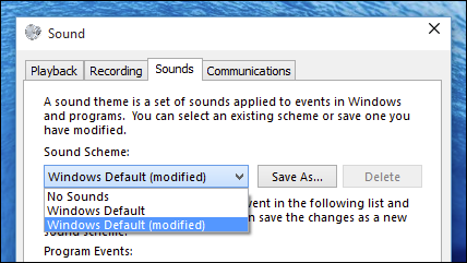 Notification Sounds sous Windows 10