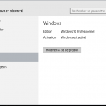 Vérifiez l'état d'activation de Windows 10, activer le, ou changer la clé du produit