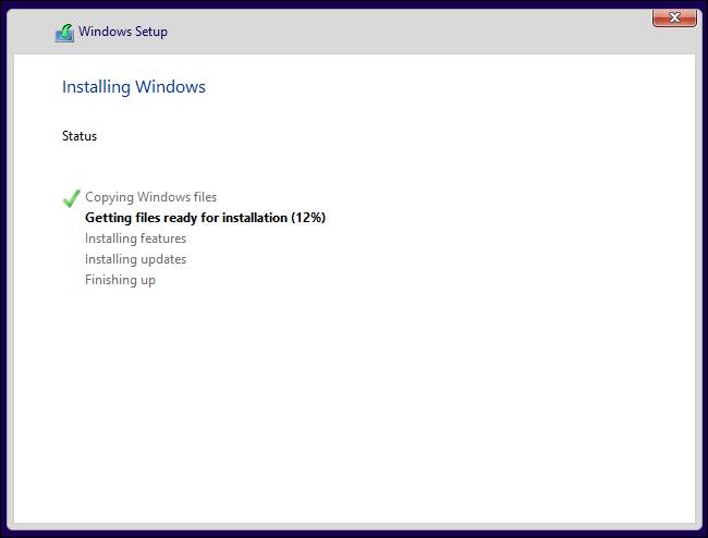 Installez Windows 10