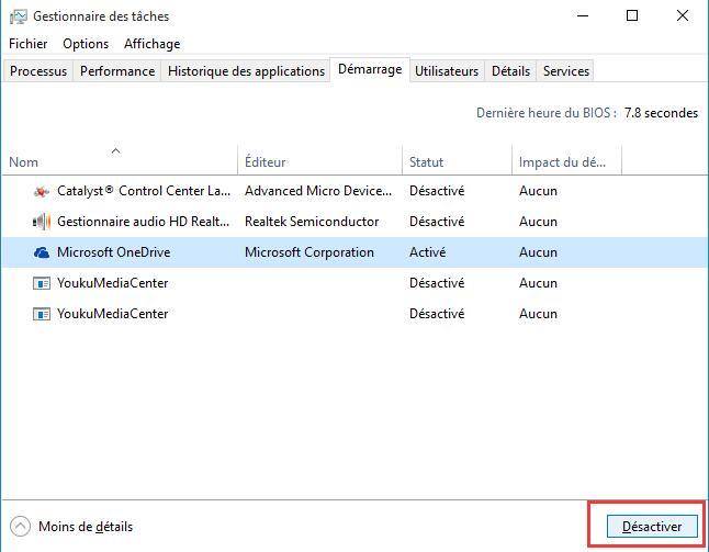 Comment voulez vous ouvrir ce fichier au demarrage windows 10
