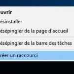 Créer un raccourci avec Microsoft Edge sur bureau sous Windows 10