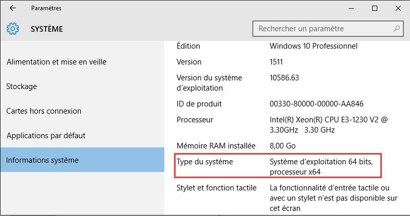 architecture de windows 10