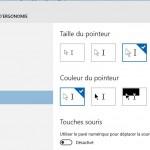 Astuce Windows 10: Augmenter la taille et densité de couleur du pointeur de souris