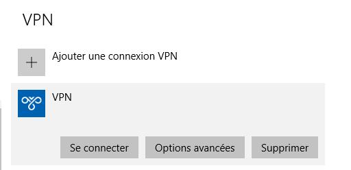 configurer VPN
